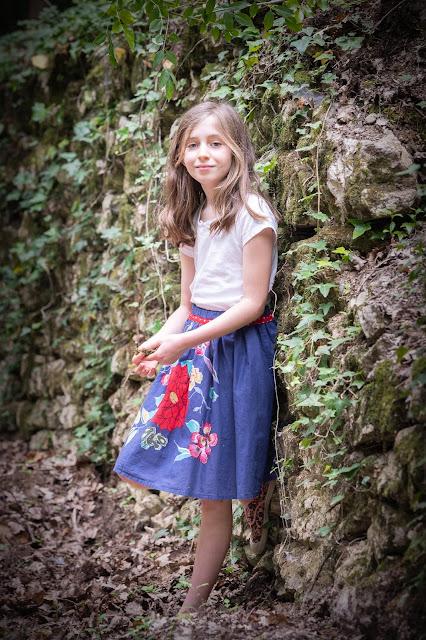 Elleanor de Provence jupe enfant à fleurs