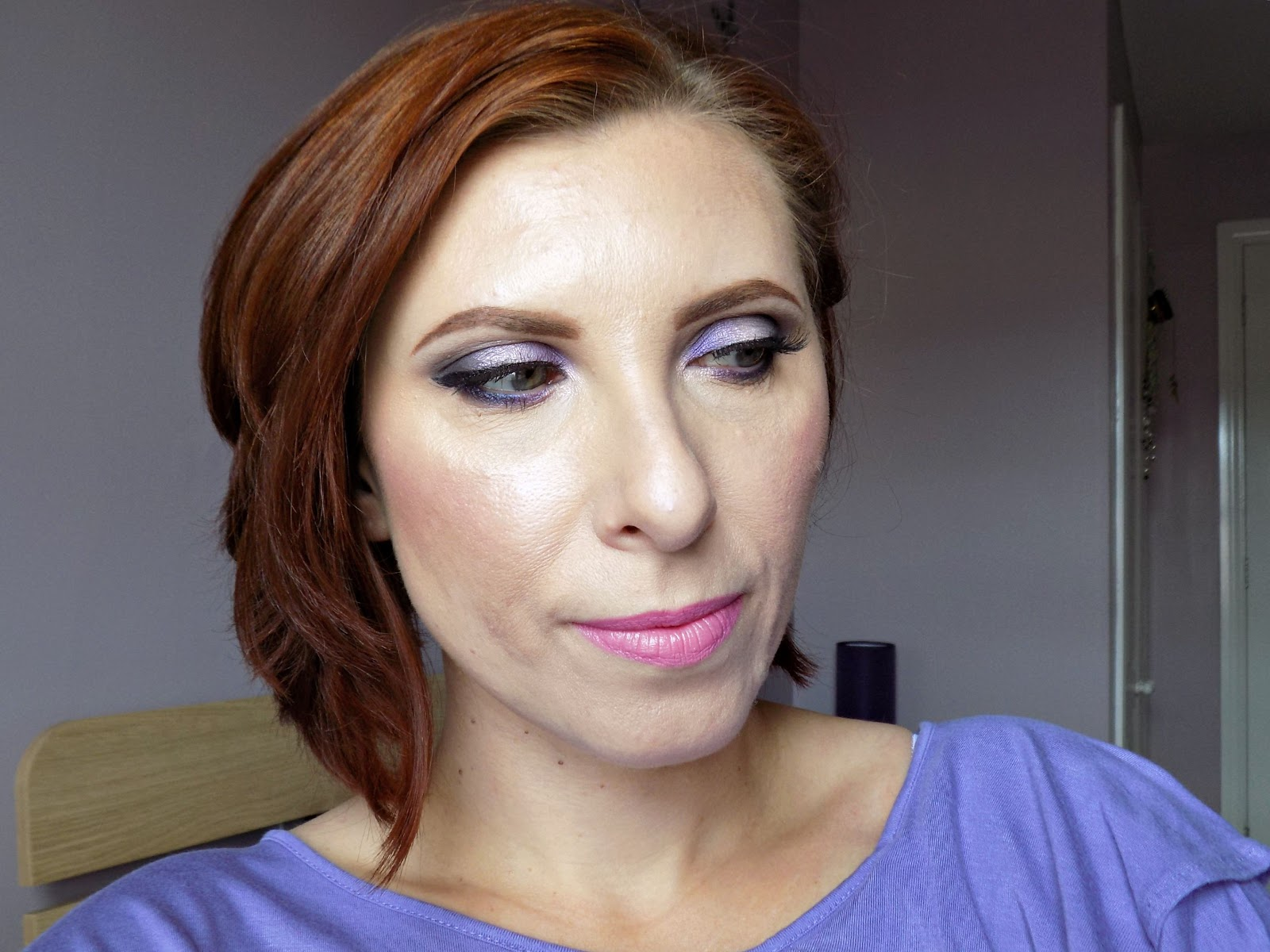 Purple eye makeup look