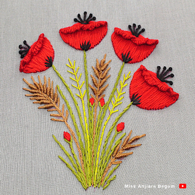Cute hand embroidered design at home, hand embroidery catchy design