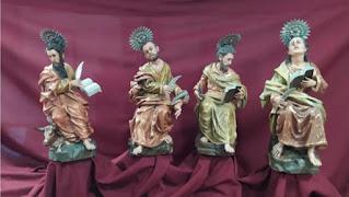 La hermandad del Amor de Córdoba restaura los evangelistas que custodian el paso de su Cristo