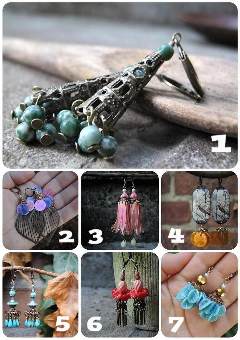 DIY - Collected/verzameld: kralenkapbellen/bead cap earrings