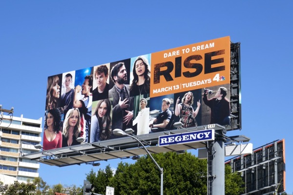 Rise series premiere billboard