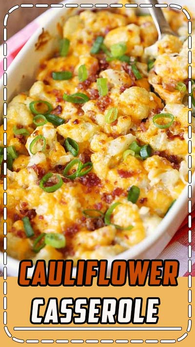 An amazingly rich and tasty cauliflower casserole is keto and low carb.