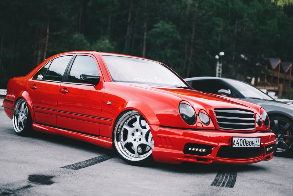 mercedes benz w210 e55 amg on 20 kleemann ts 6 wheels benztuning. Black Bedroom Furniture Sets. Home Design Ideas
