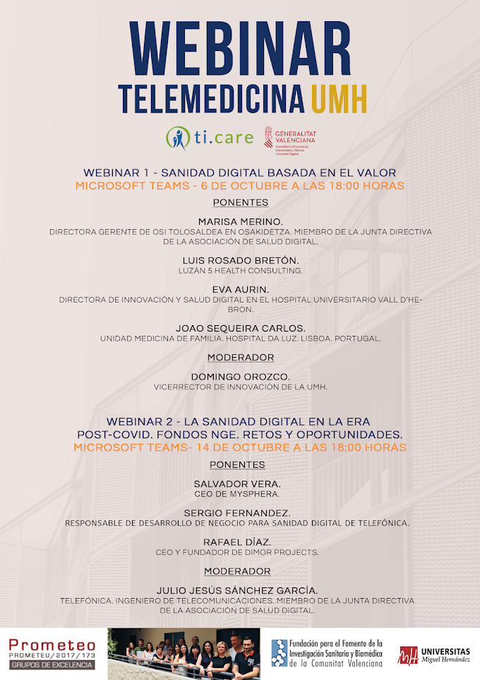 Webinars de TELEMEDICINA  - UMH