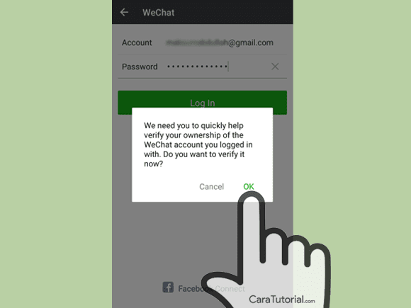 Wechat login via email