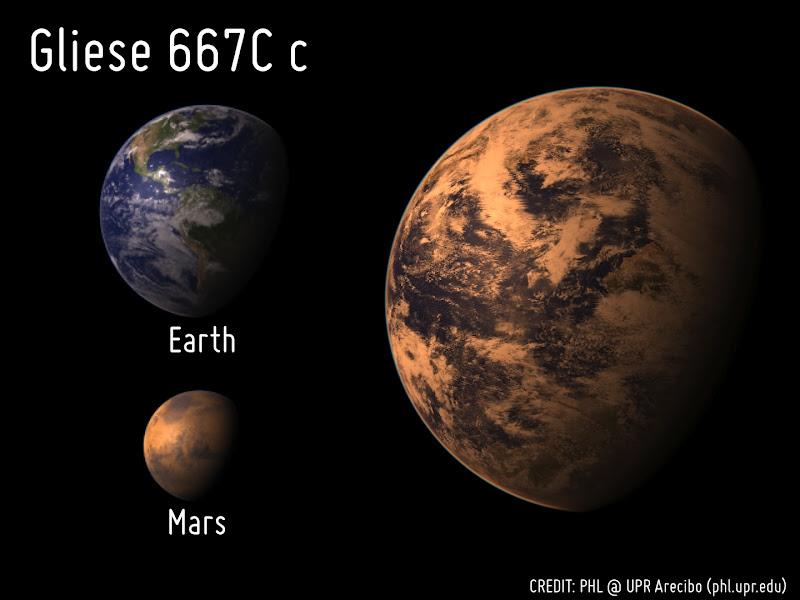 earth compared to gliese 581 c - photo #2