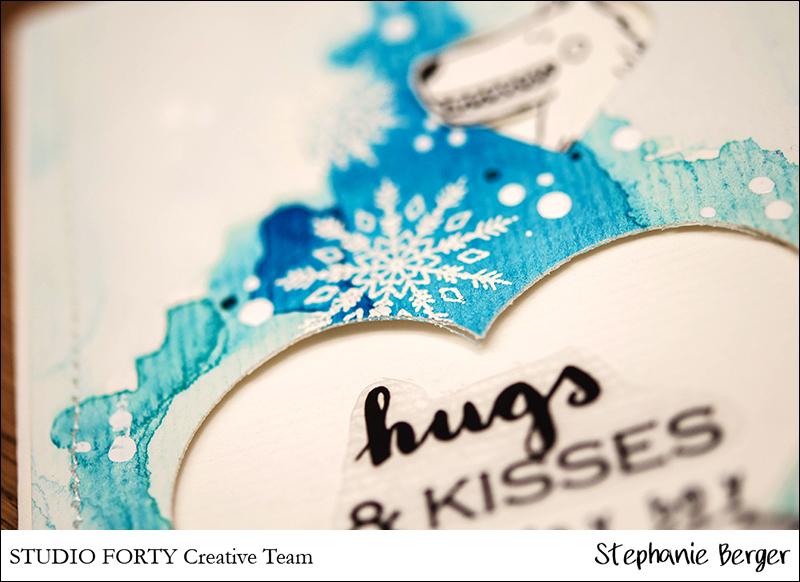Stephanie Berger - Cardmaking - StudioForty - Birthday Winter Card