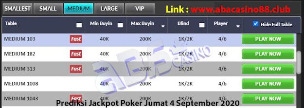 prediksi jackpot poker meja medium 4 september 2020