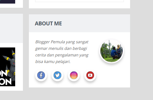 Membuat Widget About Me With Social Icon Dengan Mudah Di Sidebar Blogger
