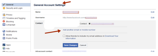 How can i change my facebook primary email address