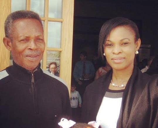Georgina Onuoha addresses skin bleaching allegation, shares photo of herfather