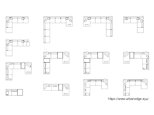 Corner sofas free autocad blocks download - 10+ Dwg Models