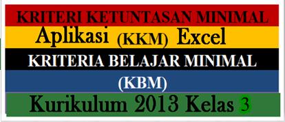 Download Gratis Aplikasi KKM K13 Kelas 3 SD/MI Edisi Revisi Terbaru