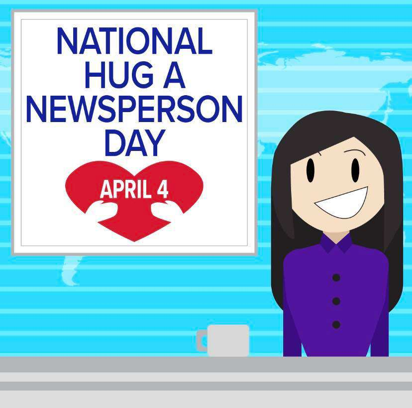 National Hug a Newsperson Day Wishes Images download