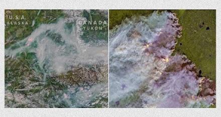 Σε εξέλιξη τεράστιες πυρκαγιές στον Αρκτικό κύκλο