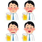 いろいろな表情の酔っぱらいのイラスト(男性)