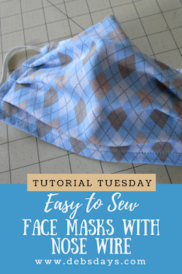 Easy Pleated Cloth Fabric Face Mask with Nose Wire Sewing Project