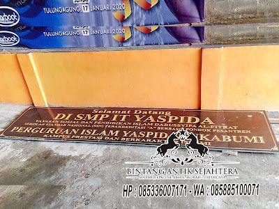 Papan Nama Sekolah Granit, Prasasti Papan Nama Marmer, Harga Papan Nama Granit