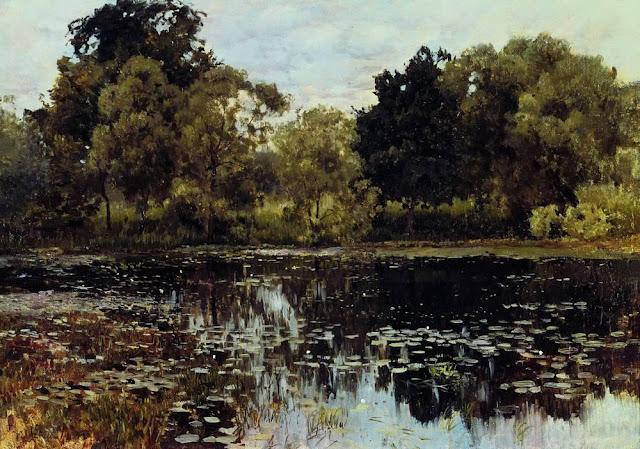Исаак Ильич Левитан - Заросший пруд. 1887