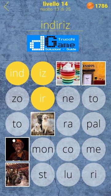 650 Parole soluzione livello 14 (1 - 25) | Parola e foto
