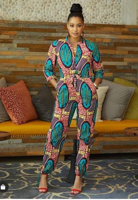 Ankara jumpsuit designs for slim and plus size ladies Image Source: Instagram @alashiax