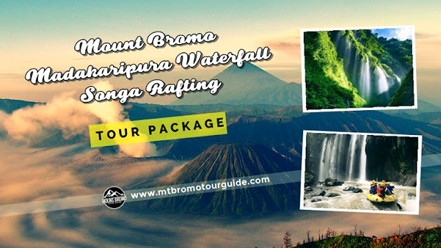 Mount Bromo, Madakaripura Waterfall, Songa Rafting Tour 3 Days