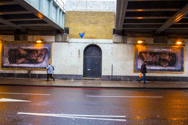 """Adam & Eva"" New Street Art Pieces By Spanish Artist Borondo On Old Street, East London. 5"