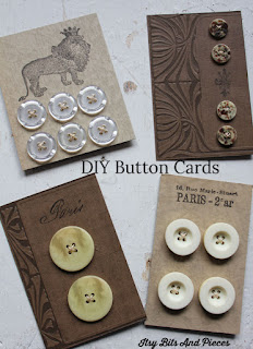 Fun DIY Button Card Projects- Itsy Bits And Pieces