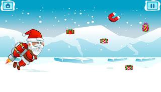 Jogue Flying Santa Gifts HTML5 game online