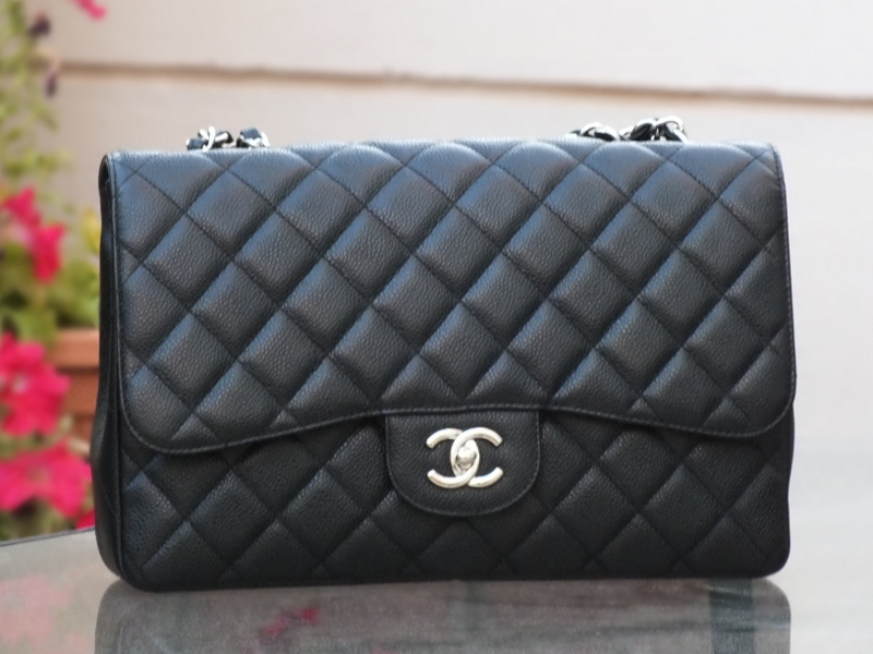 5d16c1d5e64304 Chanel Jumbo single flap in caviar with silver hardware