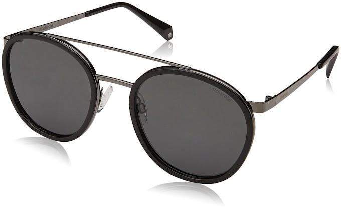 نظارات شمسية بيضاوية مستقطبة Pld6032s من Polaroid لون أسود، 53 مم