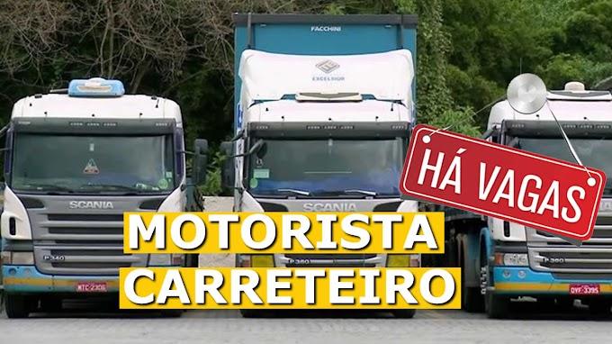 Transporte Excelsior abre vagas para Motorista Carreteiro
