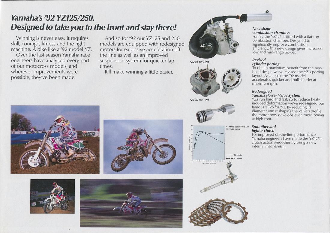 Racing Cafè: Vintage Brochures: Yamaha YZ Range 1992 (UK)