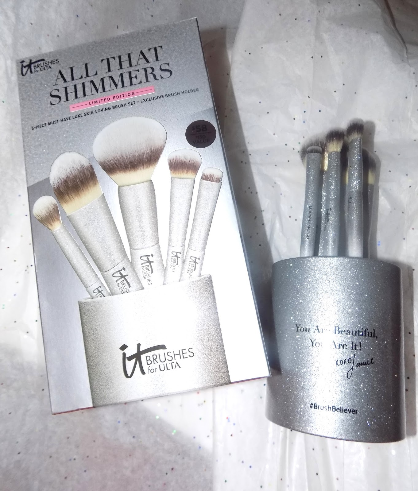 it cosmetics brushes set. it cosmetics all that shimmers is $58 exclusively at ulta brushes set