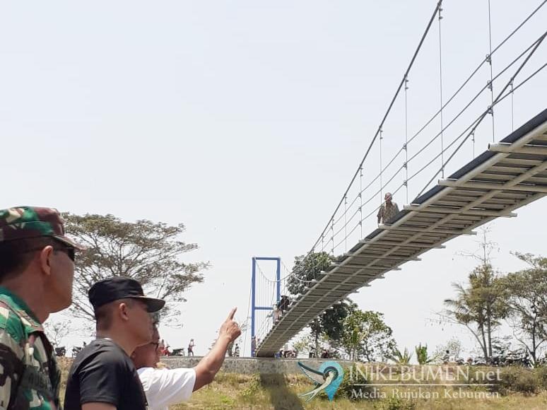 Alhamdulillah, Desa Sidobunder Puring Kini Punya Jembatan Gantung