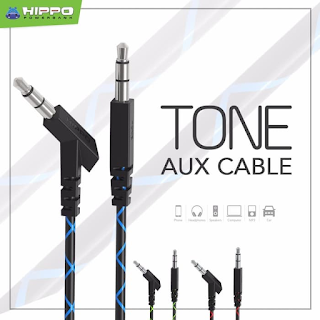 Hippo Aux Cable Tone Kabel Aux Kabel Audio 3.5mm 100cm Male To Male