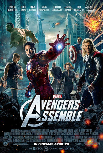 Poster The Avengers 2012 Full Movie Download Dual Audio Hindi 720p HD