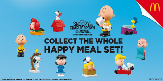 Snoopy and the gang now in every McDonald's Happy Meal!  - Mix of Everything