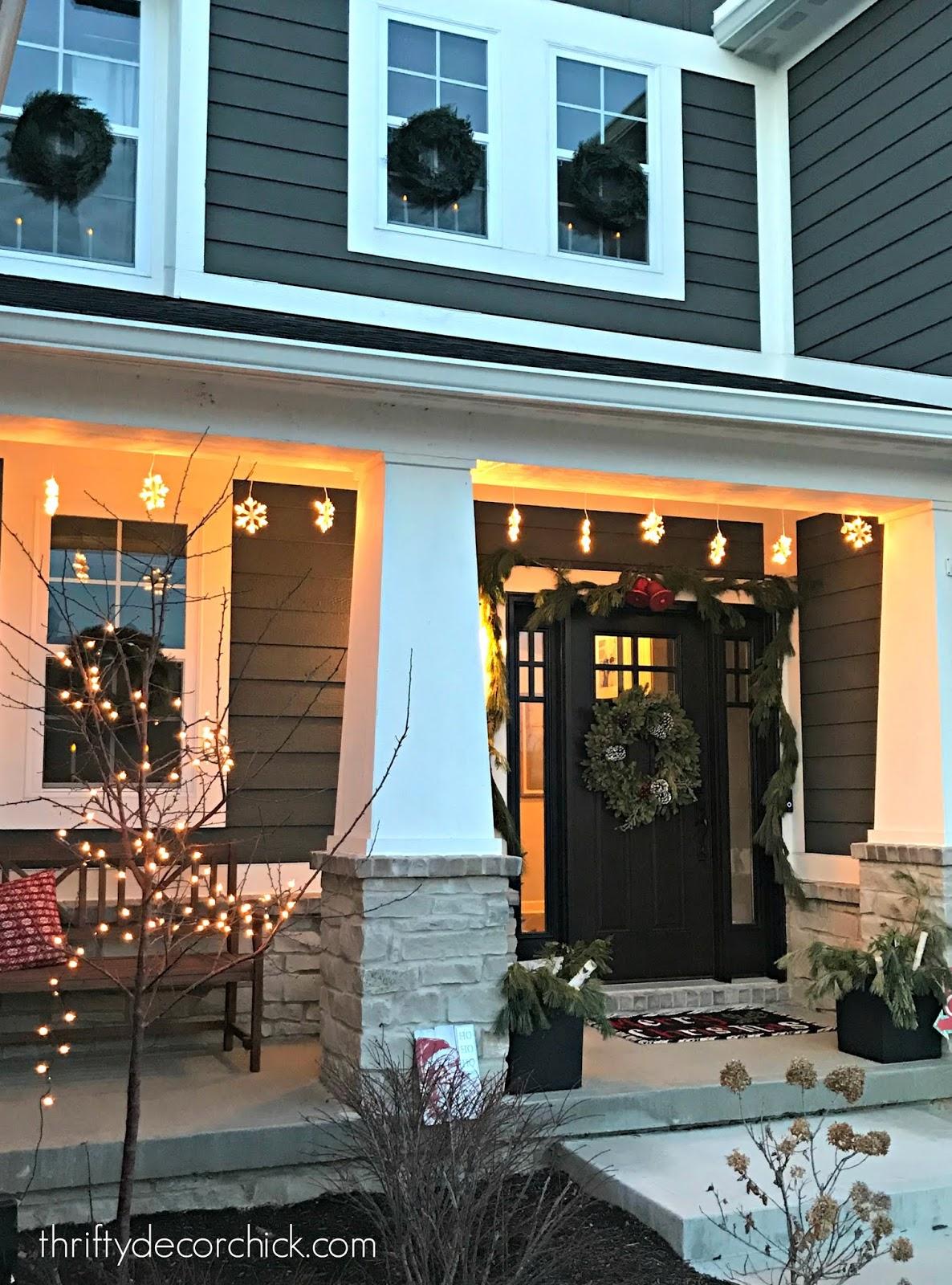 Modern Craftsman exterior porch