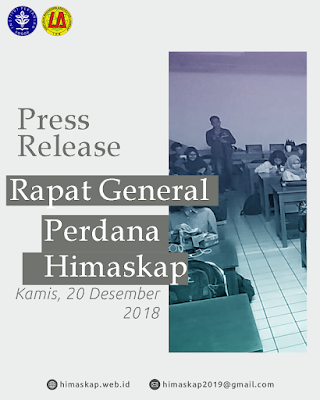 [PRESS RELEASE] RAPAT GENERAL PERDANA HIMASKAP