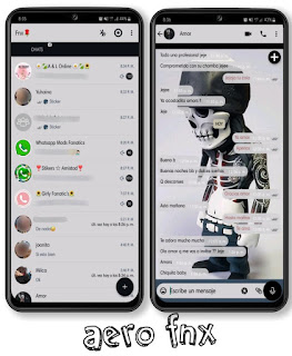 Skull Horror Theme For YOWhatsApp & Fouad WhatsApp By Ave fénix