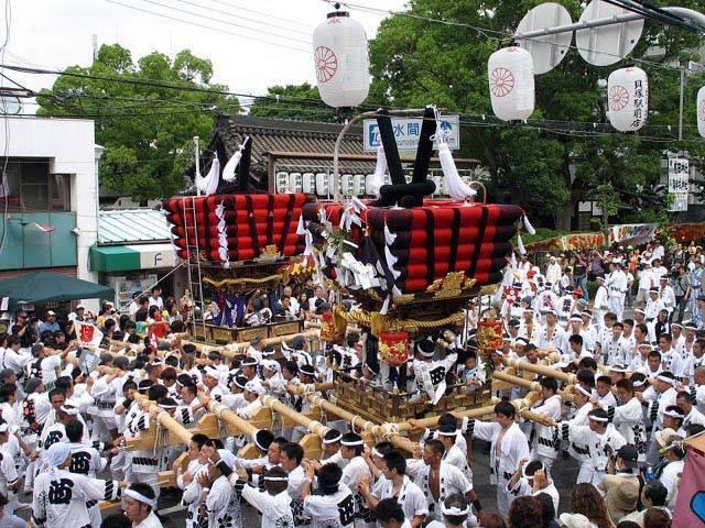 Taikodai Matsuri (drum float festival), Kaizuka City, Osaka