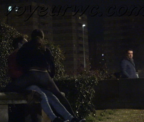 Couple Having Sex in Public on Street Hidden Cam (Galician Night Sex 180-181)