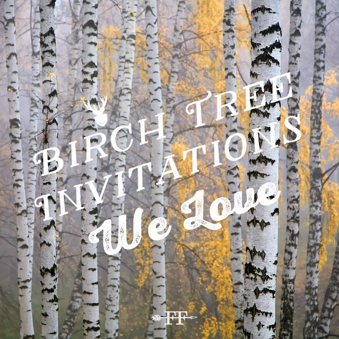 Birch Tree Invitations