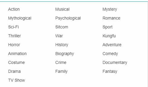 1Movies Categories