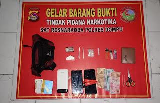 Lagi Satresnarkoba Polres Dompu Bekuk Dua Terduga Penyalahgunaan Narkoba