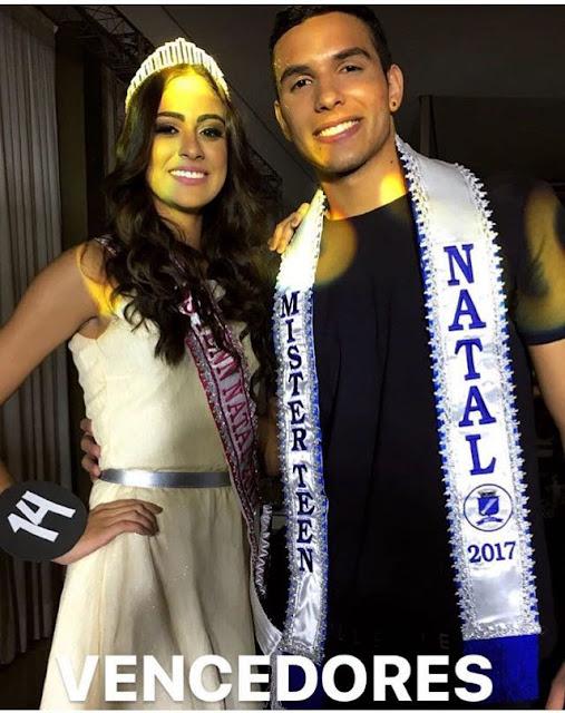 Guamaré no Topo: David Miranda venceu o concurso Mister Teen Natal.