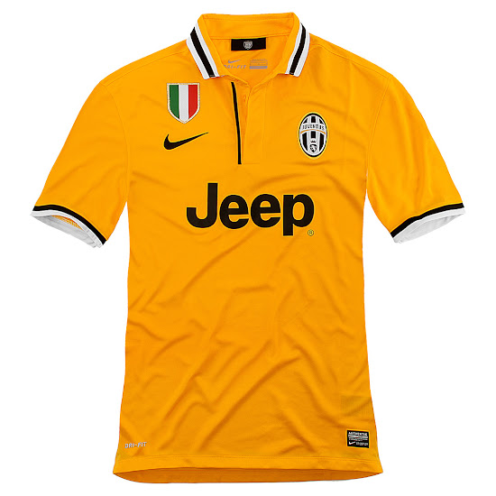 25b257a0b Is this the perfect football kit  The classy Juventus 13-14 Away Shirt  combines the main color yellow with white and black details on the collar  and the ...