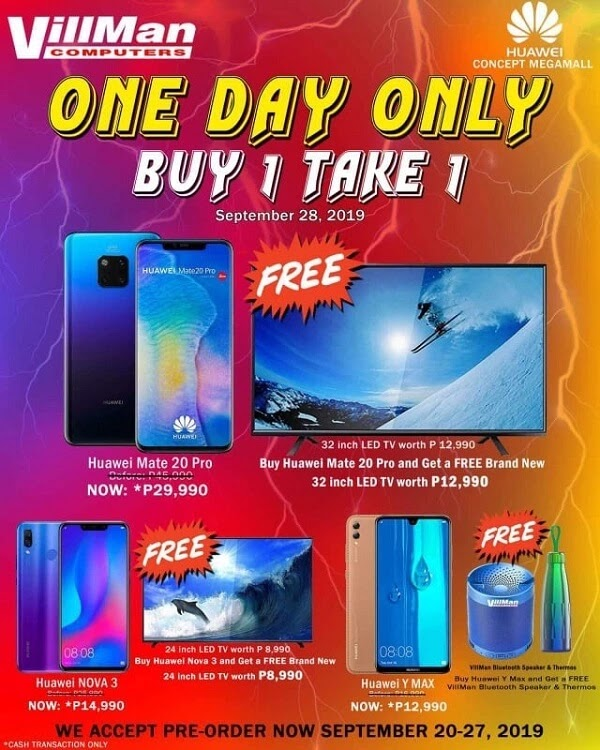 "Villman's ""Buy One, Take One"" Promo to Happen on September 28"